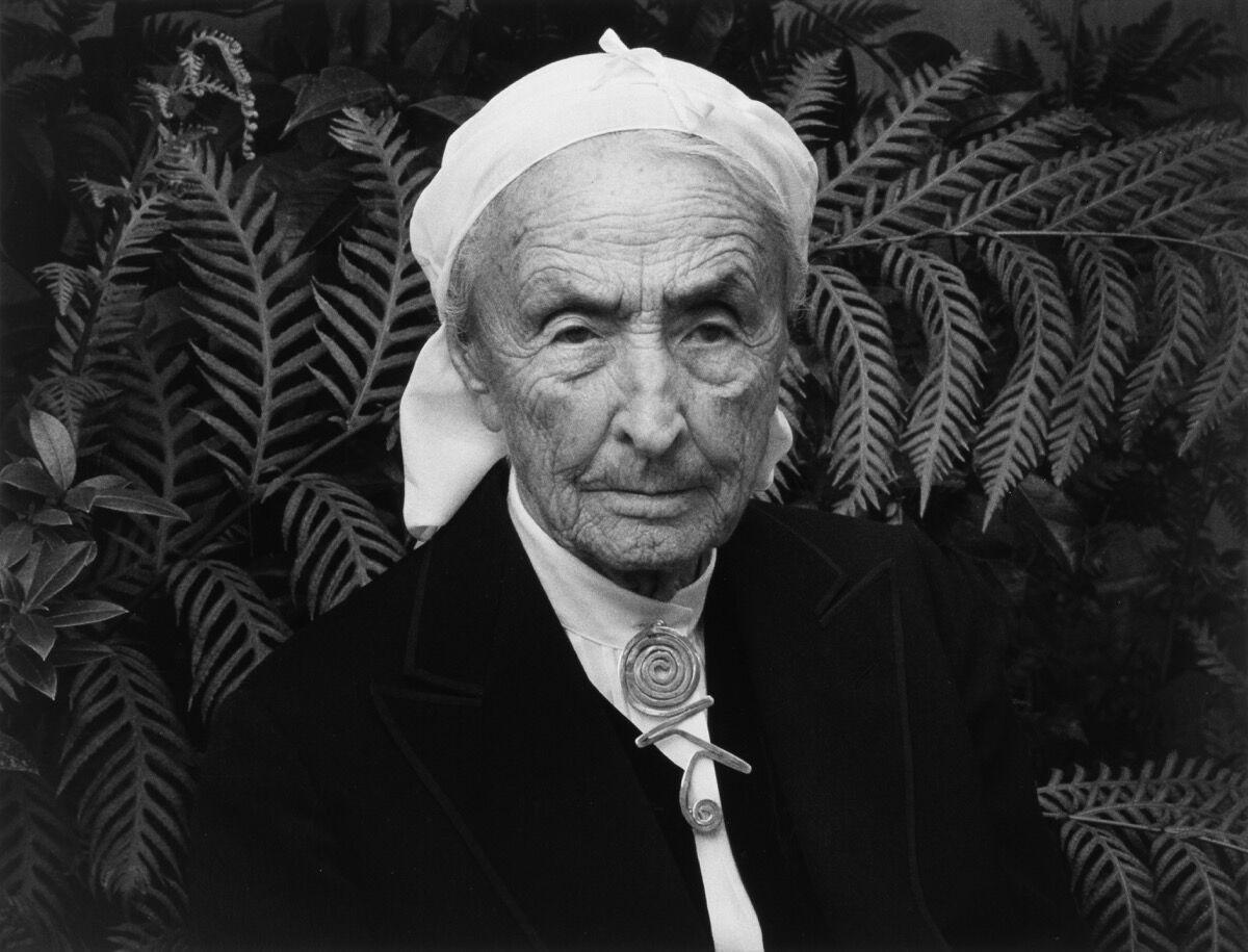 Ansel Adams, Georgia O'Keeffe, Carmel Highlands, California, 1981. © 2016 The Ansel Adams Publishing Rights Trust.