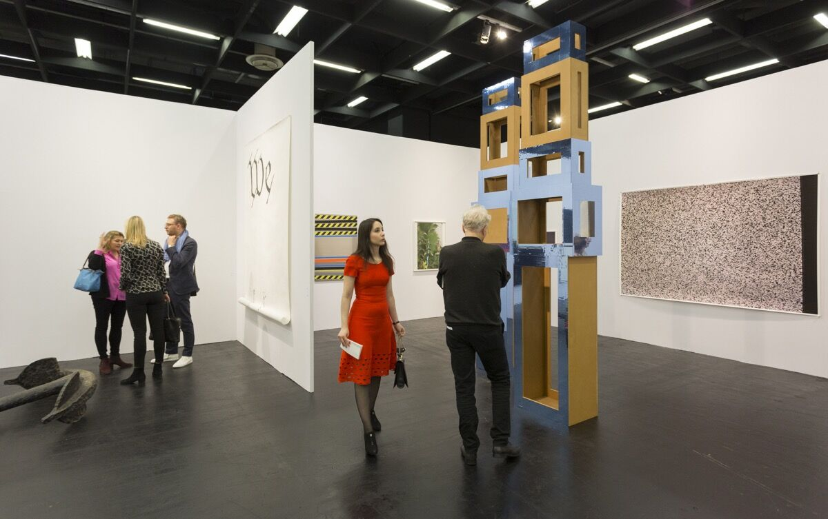 Installation view of Galerie Buchholz's booth at Art Cologne, 2018. Courtesy of Art Cologne.