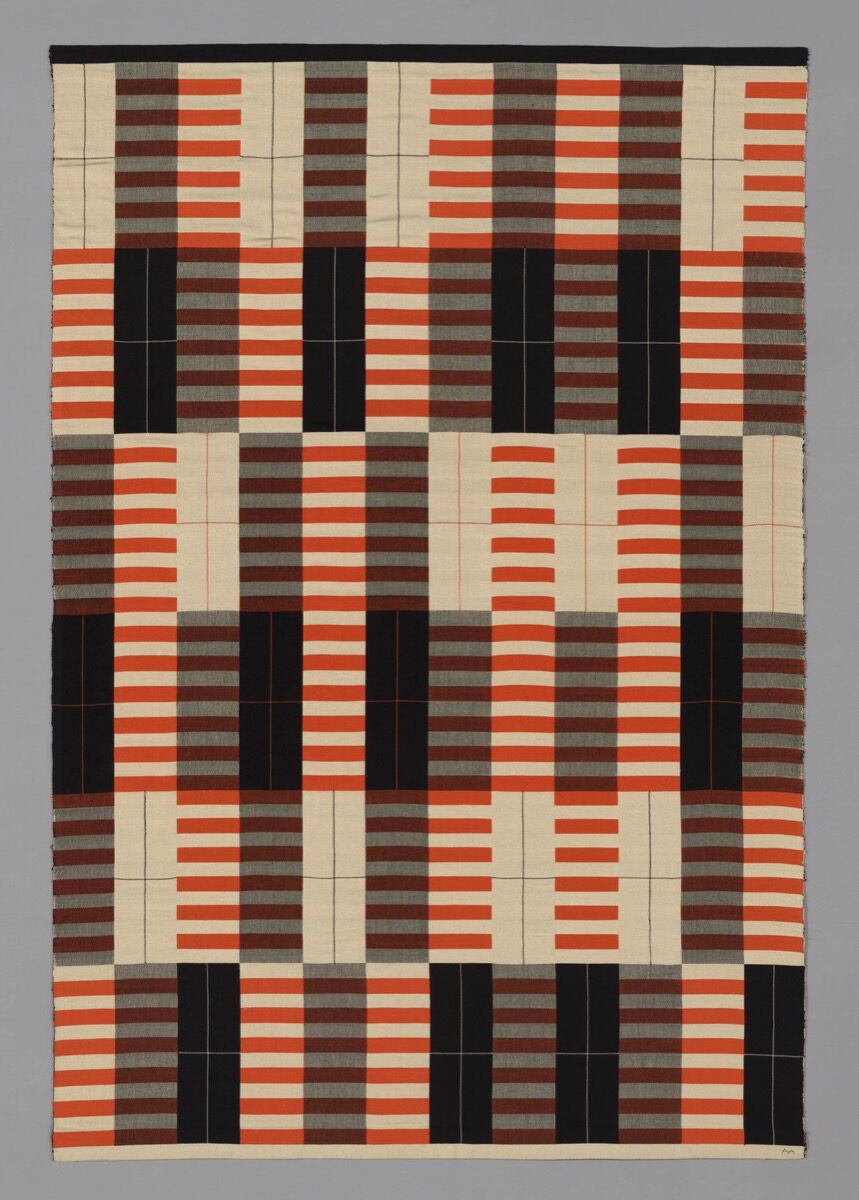 Anni Albers, Originally produced by the Bauhaus Workshop. Black-White-Red, 1926–27 (produced 1965). © The Josef and Anni Albers Foundation / Artists Rights Society (ARS), New York. Courtesy of the Art Institute of Chicago.