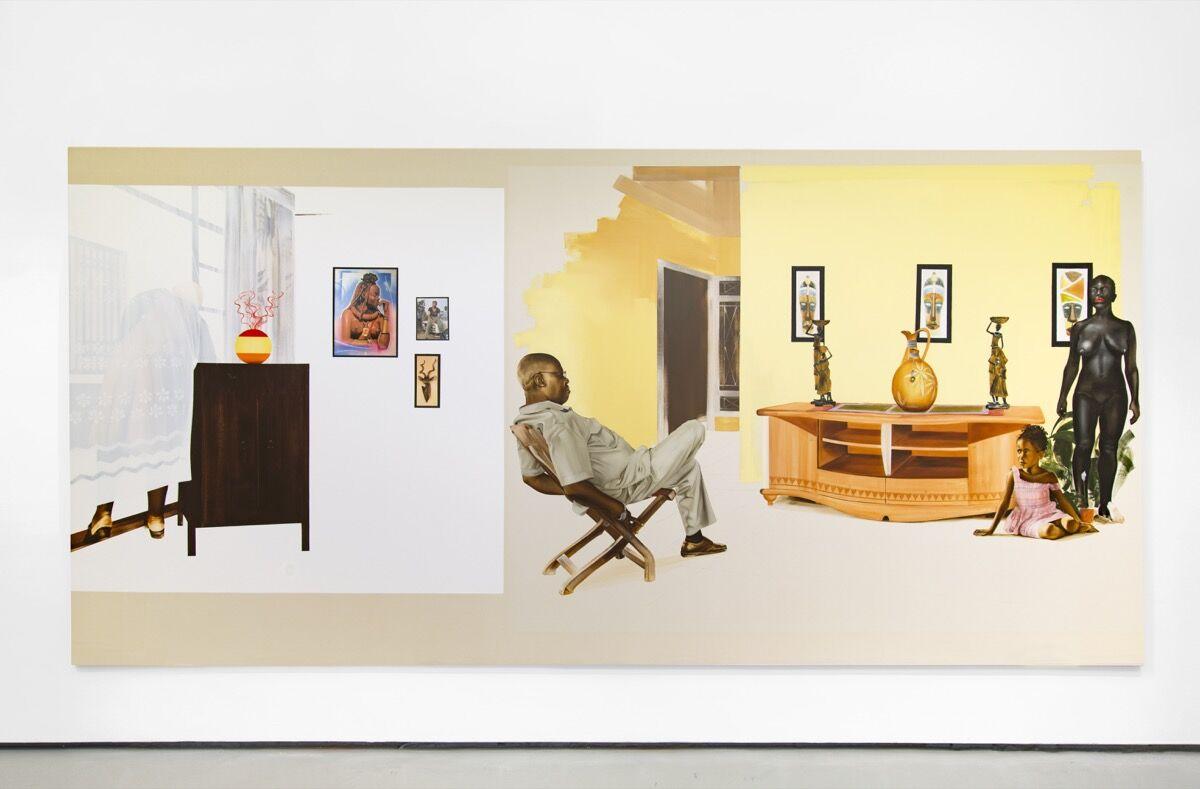 Meleko Mokgosi, Democratic Intuition, Lex I, 2016.© Meleko Mokgosi, courtesy of the artist and Jack Shainman Gallery, New York.