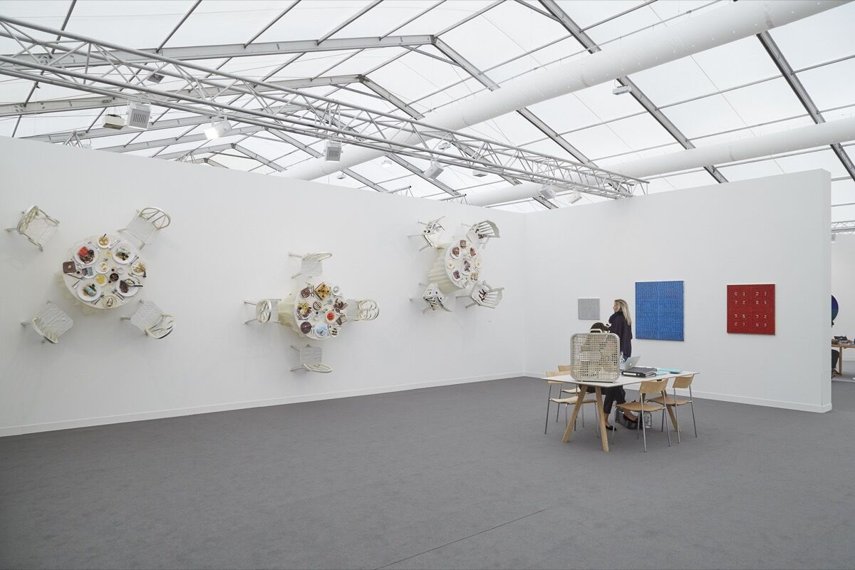 Installation view of CANADA's booth at Frieze London, 2016. Photo by Benjamin Westoby for Artsy.