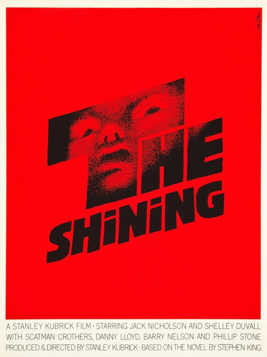 Saul Bass, The Shining film poster. Courtesy of The Saul Bass Poster Archive / FILMARTGALLERY.COM.