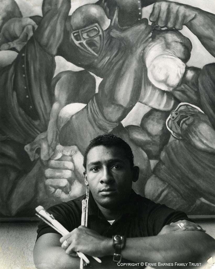 Portrait of Ernie Barnes, 1968. © Ernie Barnes Family Trust. Courtesy of Ernie Barnes Family Trust.