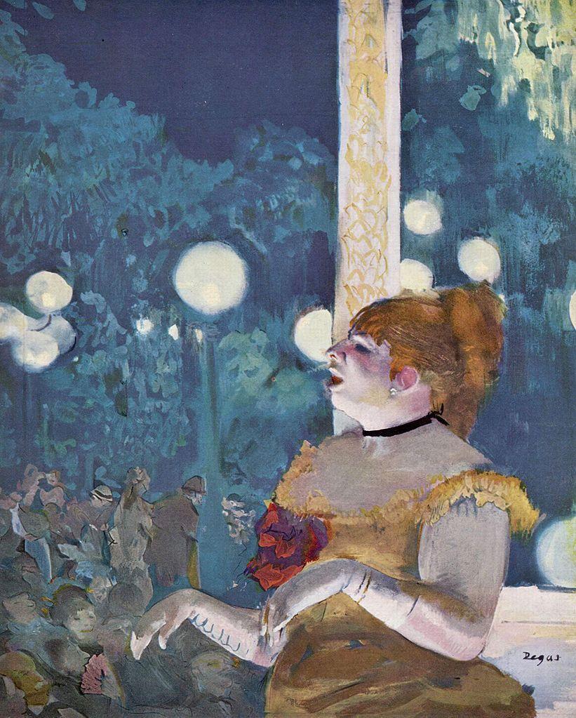 Edgar Degas, Au Café-concert: La Chanson du chien, ca. 1875–77. Image via Wikimedia Commons.