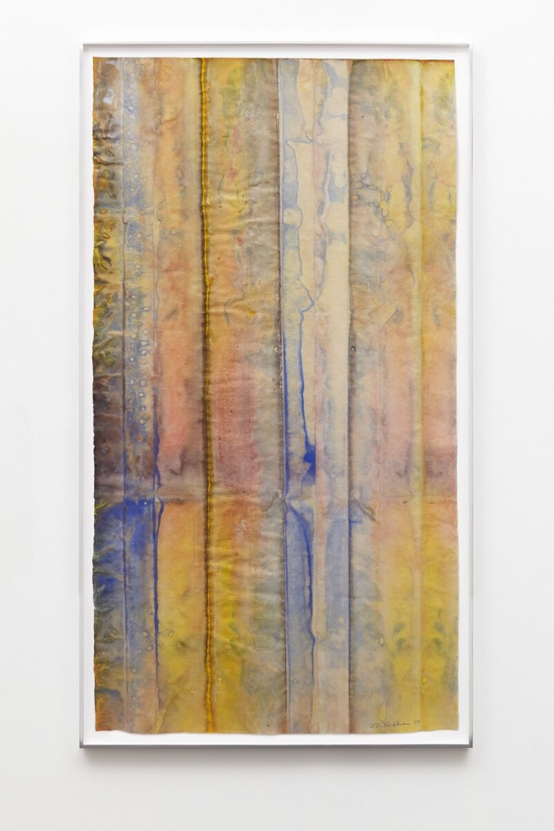 Sam Gilliam, Untitled, 2019. Courtesy of David Kordansky Gallery, Los Angeles.