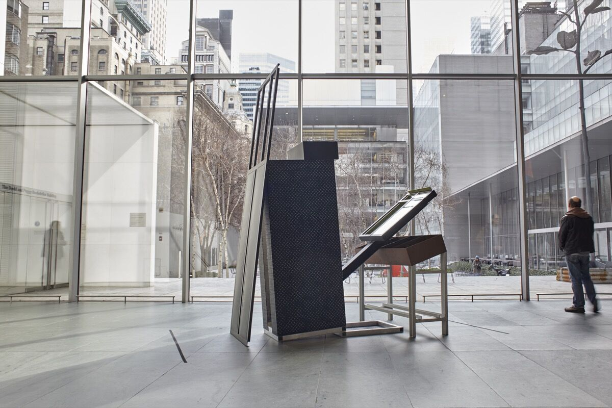 Work bySiah Armajani. Installation view of the collection galleries at The Museum of Modern Art, New York. Photo by Robert Gerhardt, courtesy of MoMA.