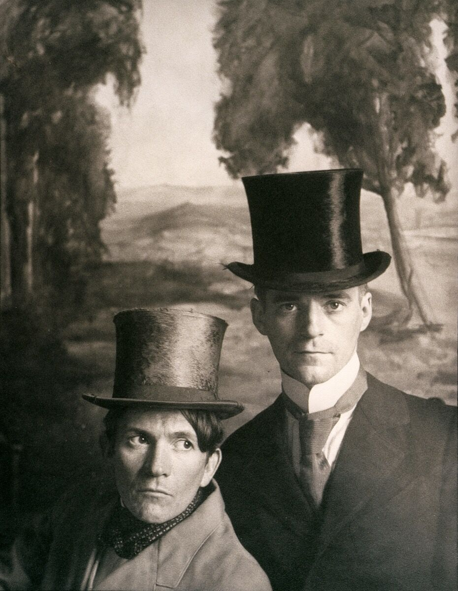 McDermott & McGough, Portrait of the Artists (With Top Hats), 1865, 1991. Courtesy of the artists.