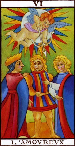 Nicolas Conver, Tarot card from Tarot de Marseille, ca. 1760. Via Wikimedia Commons.