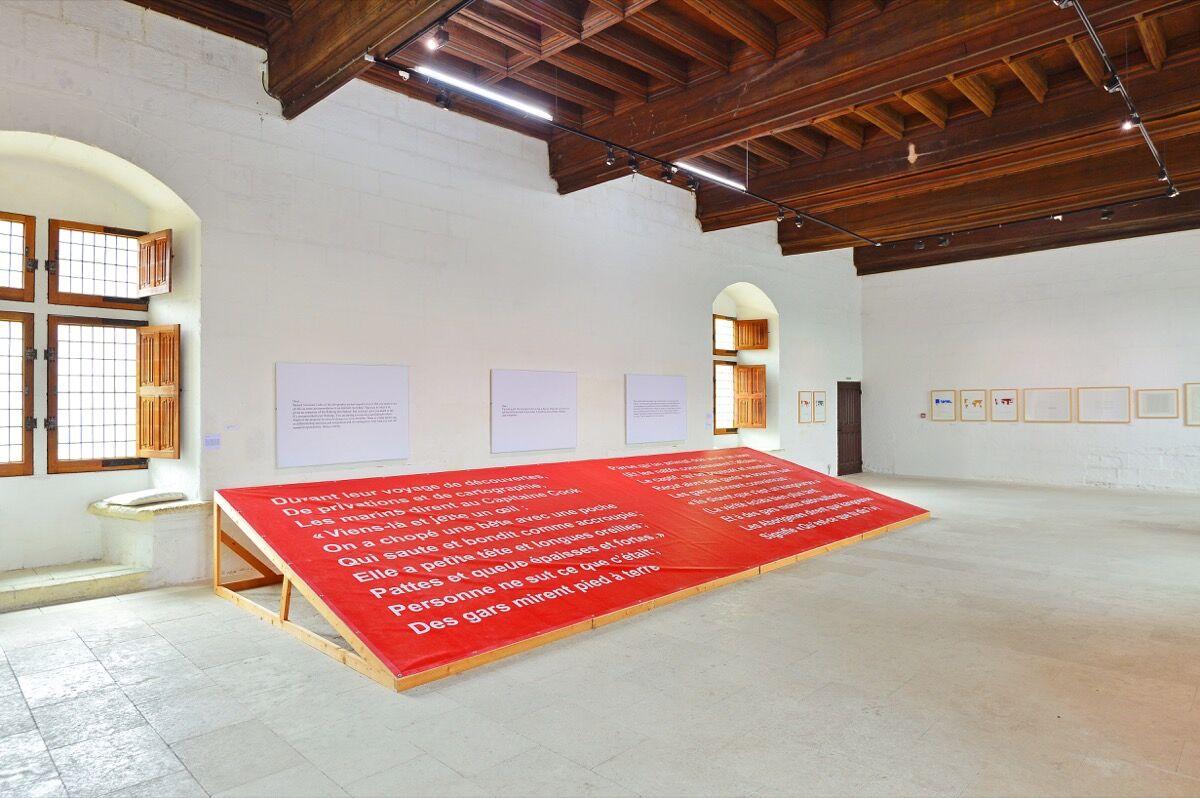 "Installation view of ""Art & Language,"" works from the collection of Philippe Méaille. Courtesy Château de Montsoreau - Musée d'Art Contemporain."