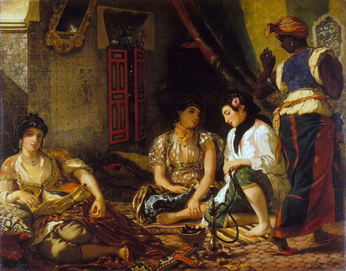 Eugène Delacroix, The Women of Algiers, 1834. Collection of the Louvre. Image via Wikimedia Commons.