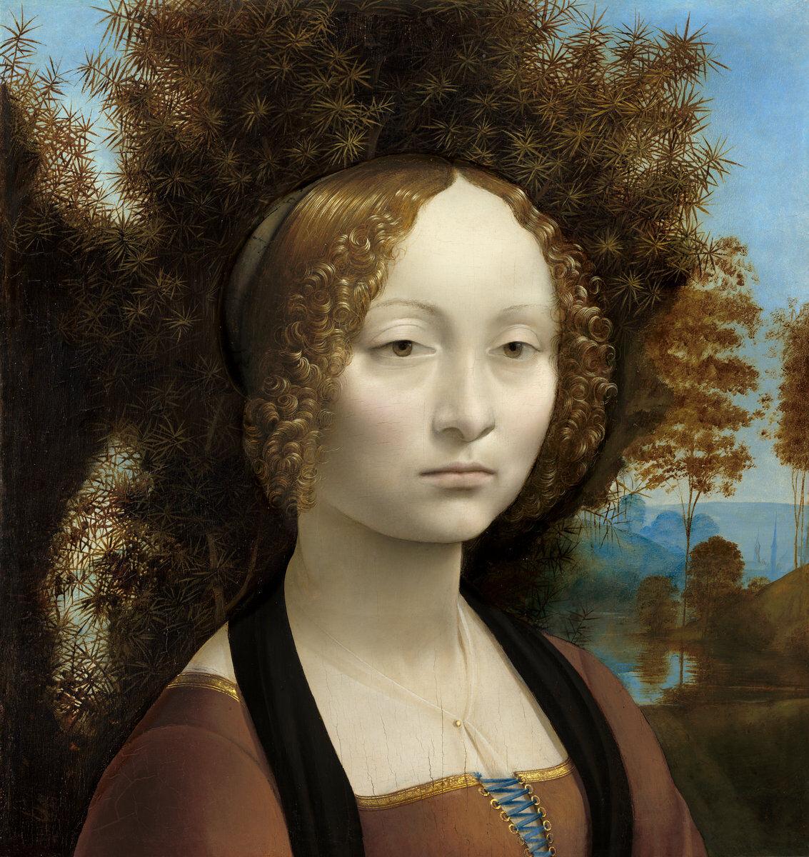 Leonardo da Vinci, Ginevra de' Benci [obverse], c. 1474/1478. Courtesy of the National Gallery of Art.