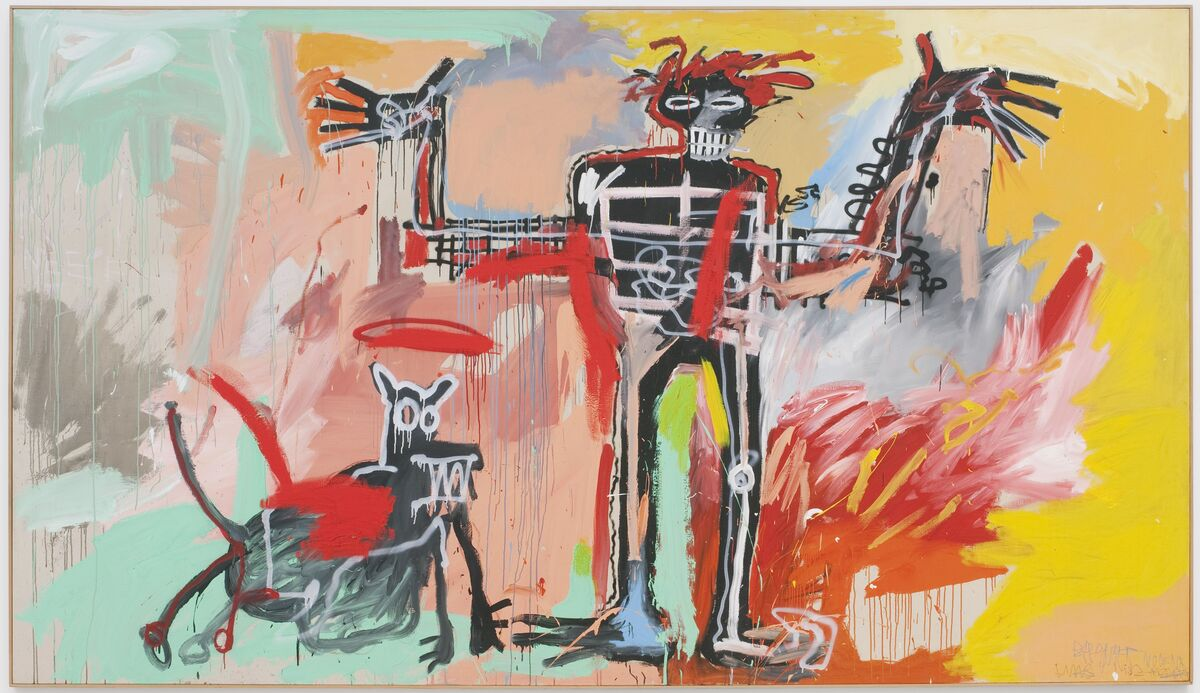 Jean-Michel Basquiat,  Boy and Dog in a Johnnypump,  1982. © Estate of Jean Michel Basquiat. Licensed by Artestar, New York. Courtesy of The Brant Foundation.