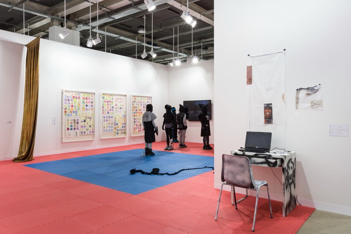 Installation view of Cabinet's booth at Art Basel, Basel, 2021. Courtesy of Cabinet.
