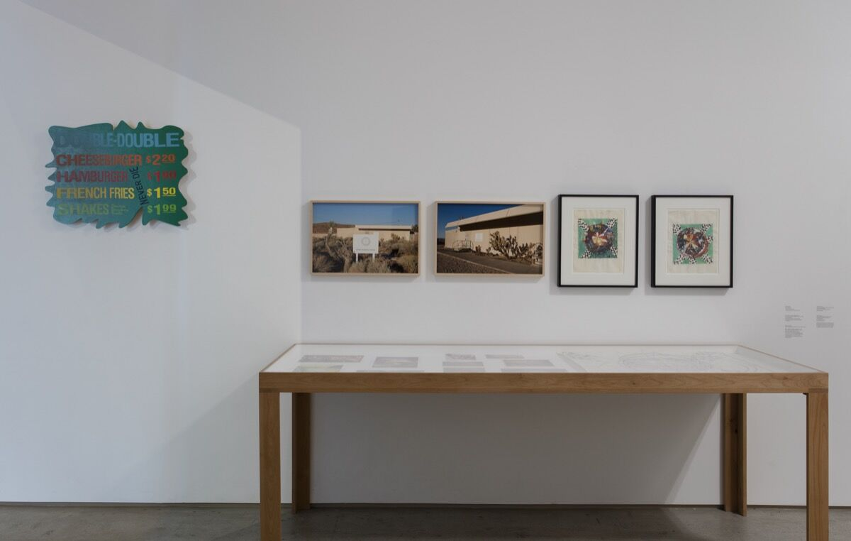 """Installation view of """"This Brush for Hire: Norm Laich & Many Other Artists"""" at the Institute of Contemporary Art, Los Angeles, 2018. Photo by Brian Forrest. Courtesy of the Institute of Contemporary Art."""