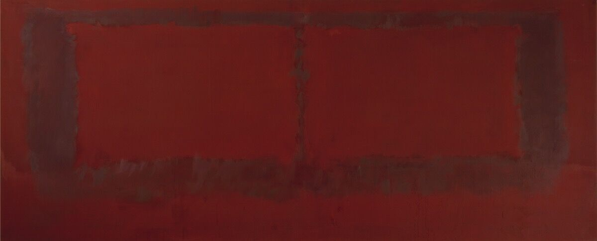 Mark Rothko, Mural, Section 6 {Untitled} [Seagram Mural], 1959. © 1998 Kate Rothko Prizel & Christopher Rothko / Artists Rights Society (ARS), New York. Photo courtesy of The Mark Rothko Foundation and Pace Gallery.