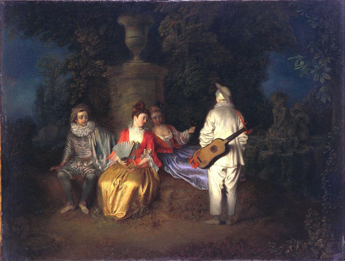 Antoine Watteau, The Foursome, ca. 1713. Image via Wikimedia Commons.