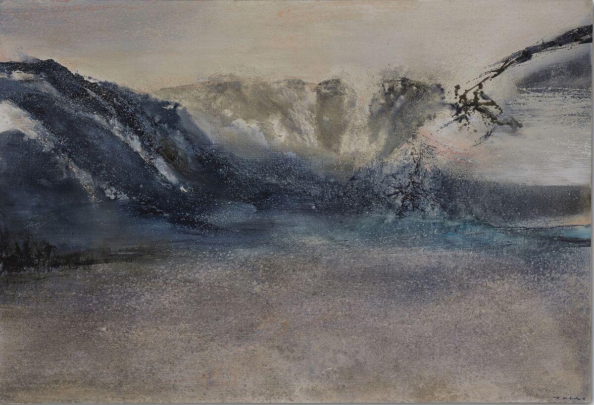 Zao Wou-Ki, 6.2.89, 1989. Sold for €2.7 million ($3 million). Courtesy Christie's Images Ltd.