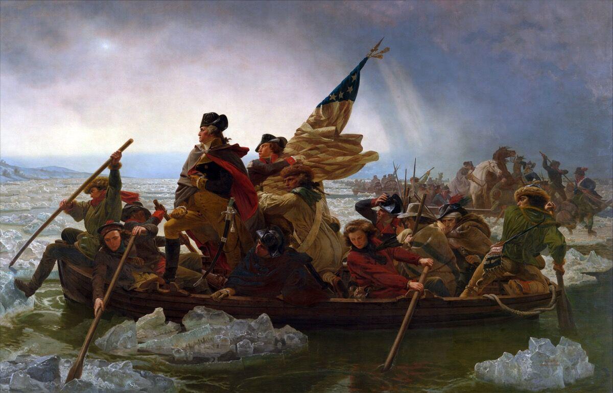Emanuel Gottlieb Leutze, Washington Crossing the Delaware, 1851. Image via Wikimedia Commons.