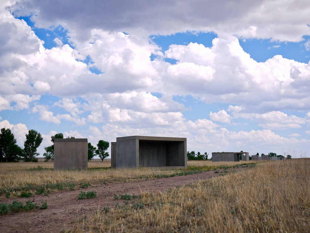 Work by Donald Judd at the Chinati Foundation in Marfa, Texas. Photo by Paul Joseph, via Flickr.