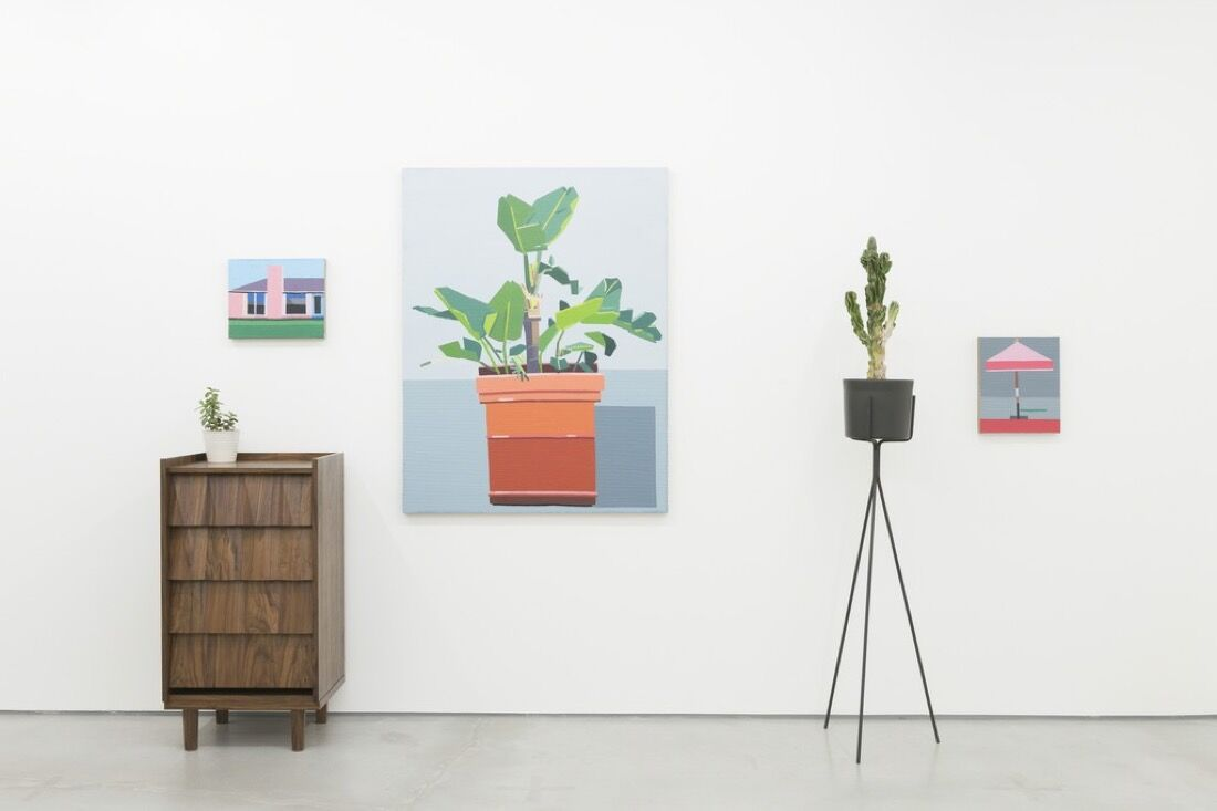 """Installation view of """"Guy Yanai featuring furniture by Rafe Mullarkey"""" at Rod Barton. Courtesy of the gallery."""