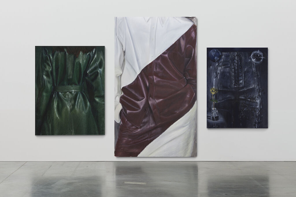 Issy Wood, installation view of Paint Also Known as Blood, 2019 at MoMA Warsaw. © Issy Wood 2020. Photo by Daniel Chrobak. Courtesy of the artist; Carlos/Ishikawa, London; JTT, New York; MoMA Warsaw.