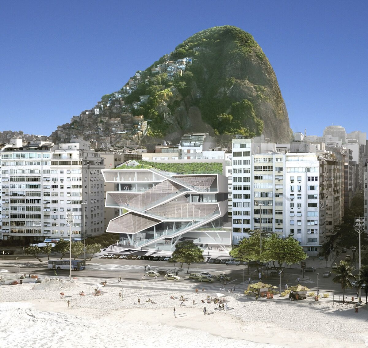 Rendering ofMuseum of Image and Sound, courtesy of Diller Scofidio + Renfro and Fundação Roberto Marinho.