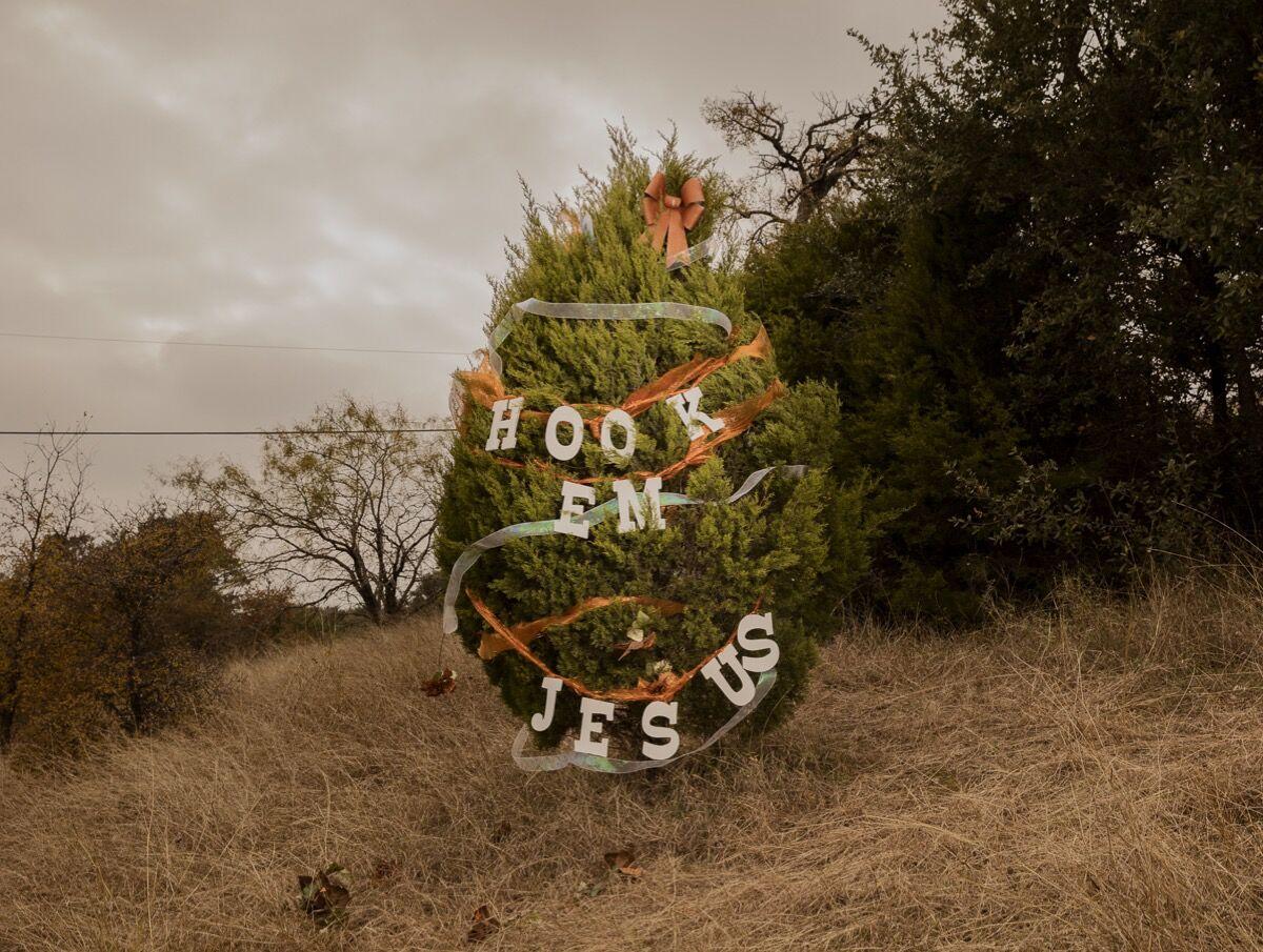 Jesse Rieser,  Hook'em Jesus, Austin, TX, 2016. Courtesy of the artist.