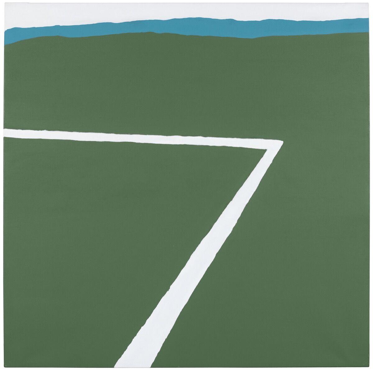 Raoul De Keyser, Kalklijin (Chalk Line), 1970. Courtesy of Christie's.