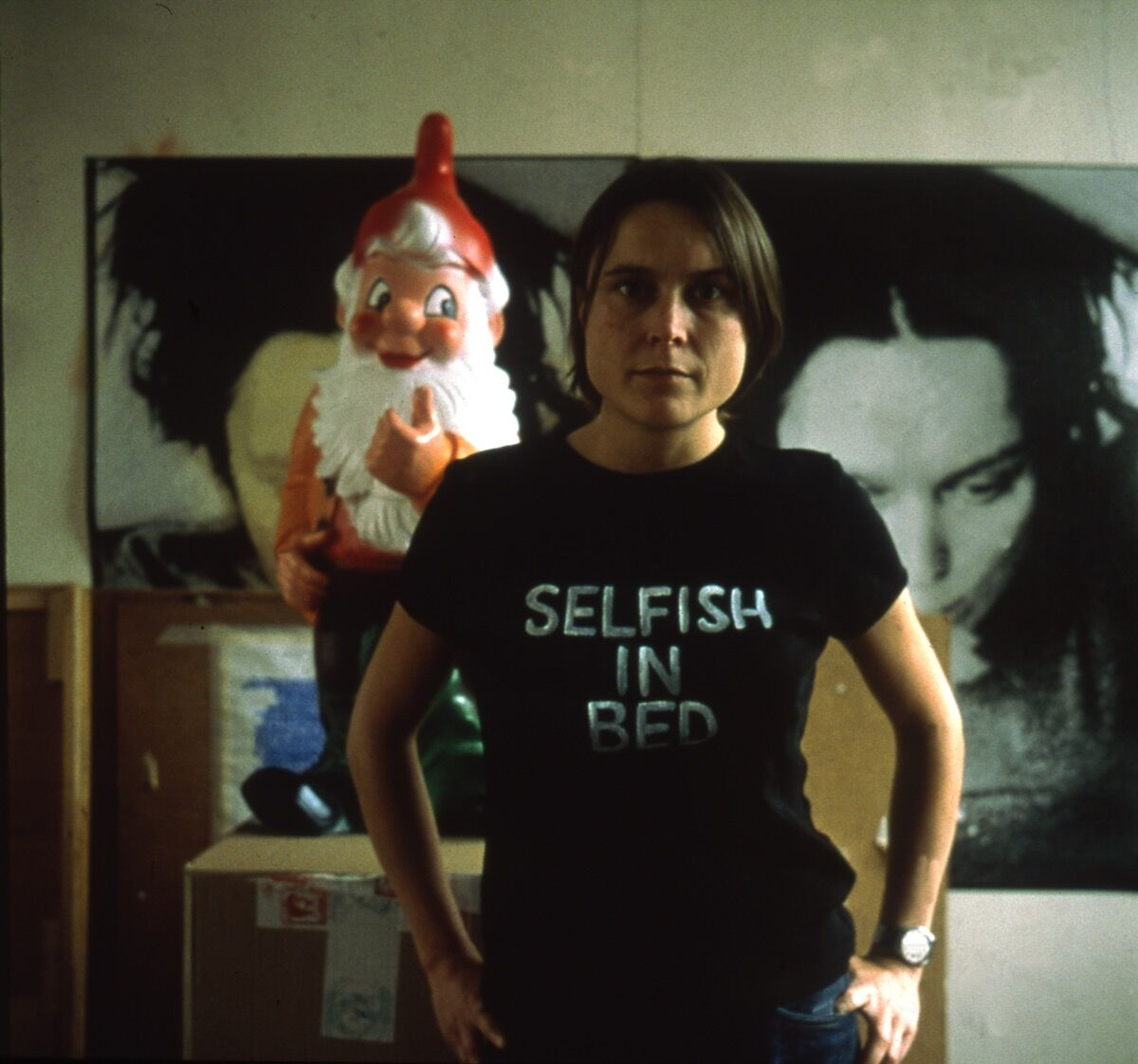 Sarah Lucas, Selfish in Bed II , 2000. © Sarah Lucas. Courtesy of Sadie Coles HQ, London.
