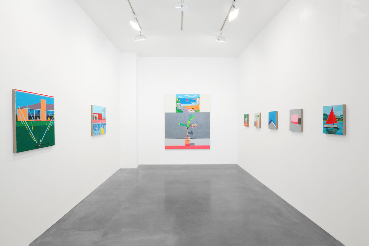 "Installation view of ""Guy Yanai: Ancienne Rive,"" Ameringer 