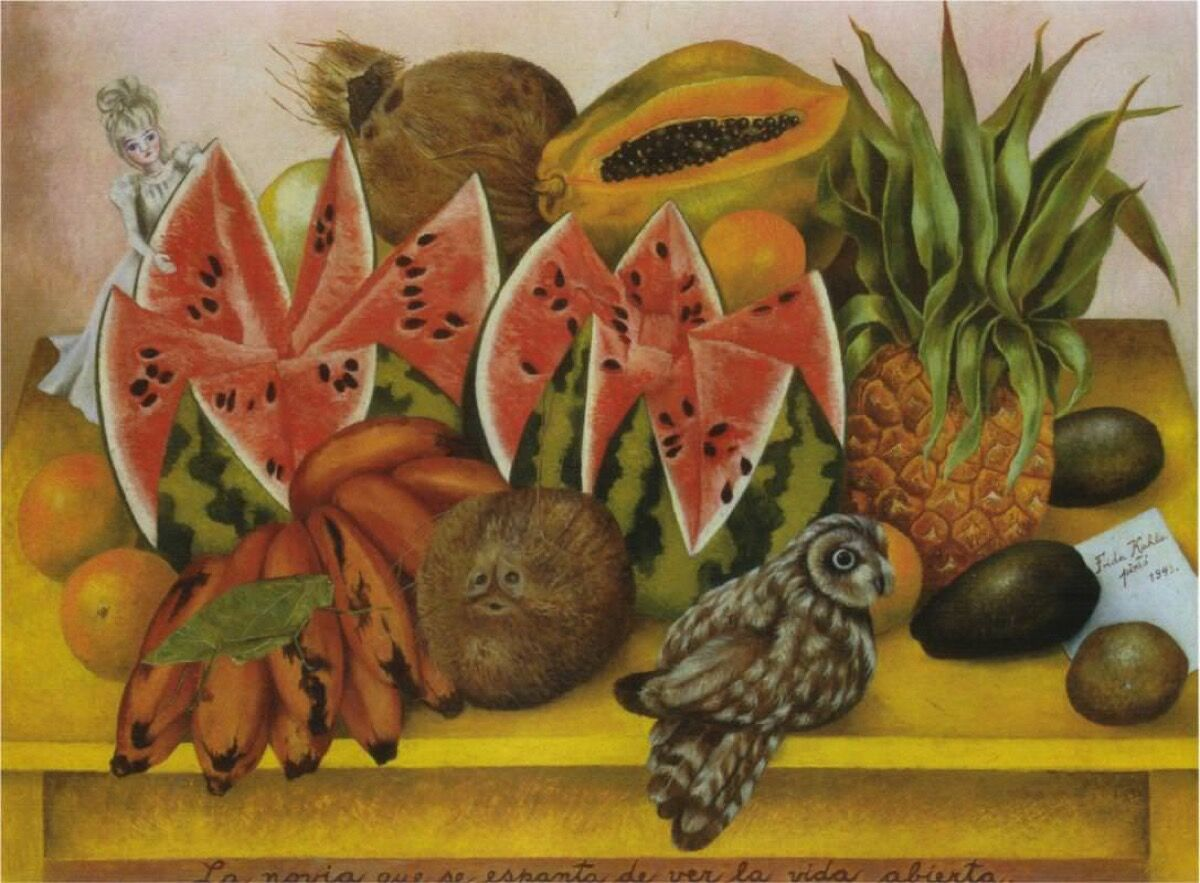 Frida Kahlo, The Bride Frightened At Seeing Life Opened, 1943. Jacques and Natasha Gelman Collection, Mexico City.