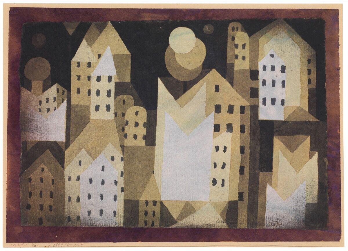 Paul Klee, Cold City, 1921.The Berggruen Klee Collection, 1984. Image © The Metropolitan Museum of Art.