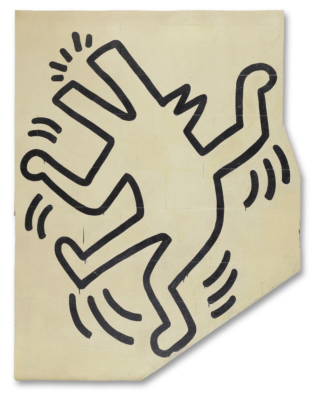 Keith Haring, Untitled (The Grace House Mural) (detail), ca. 1983–84. Est. $3 million–$5 million. Courtesy Bonhams.