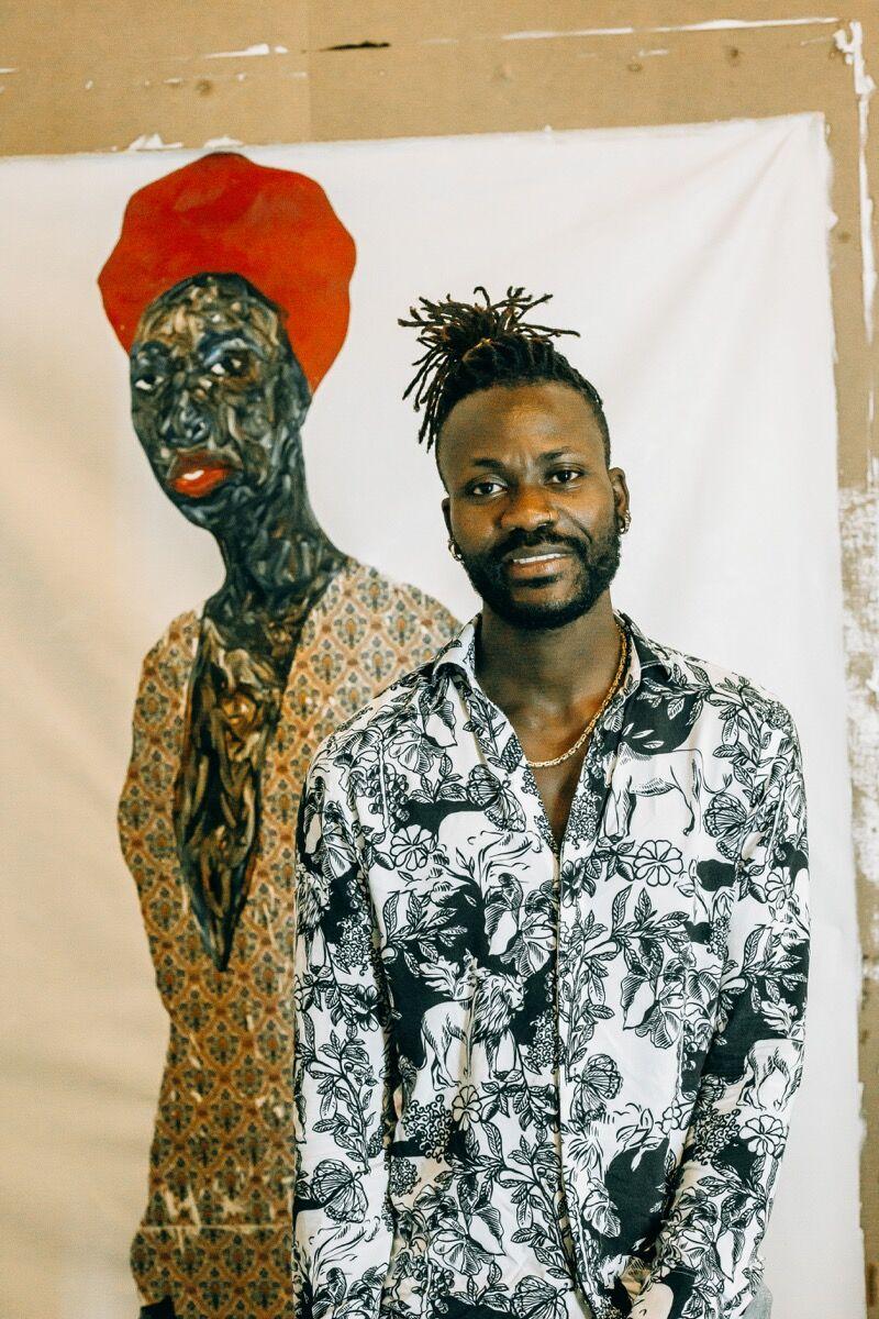 Portrait of Amoako Boafo. Courtesy of the artist and Mariane Ibrahim.