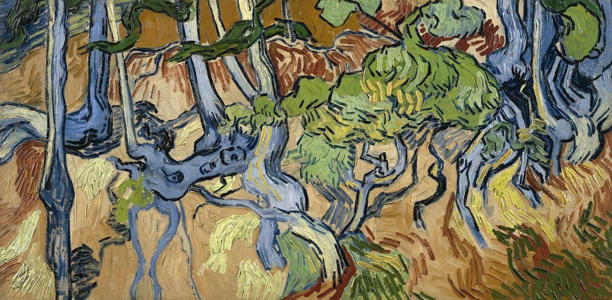 Vincent van Gogh, Tree Roots, 1890. Courtesy the Van Gogh Museum, Amsterdam, via Wikimedia Commons.