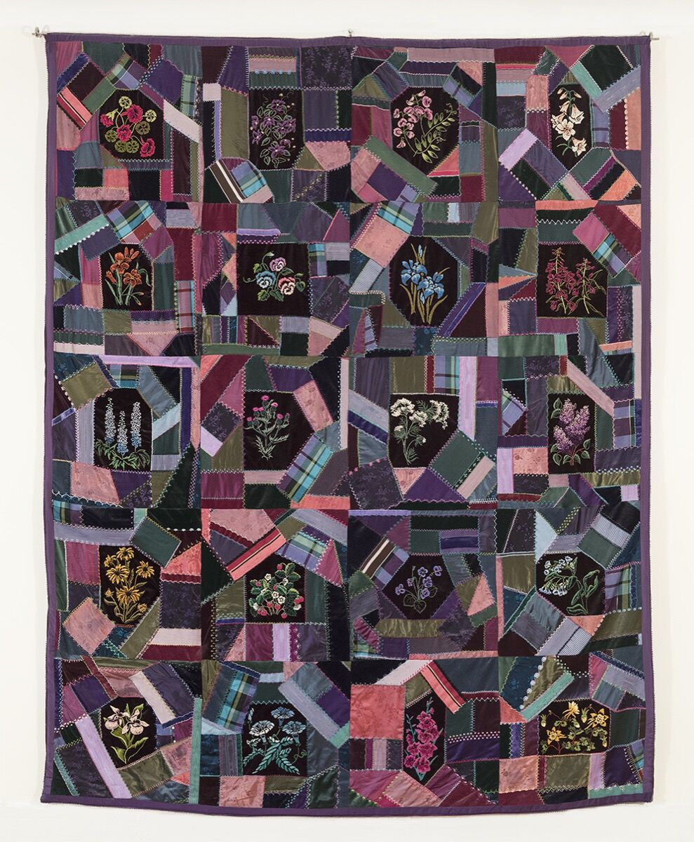 Jane Kaufman, Embroidered, Beaded Crazy Quilt, 1983-1985. Photo by Joshua Nefsky. Courtesy of the artist.