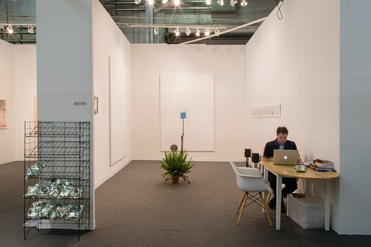Installation view ofGalerie NON's booth at The Armory Show 2015.Photo by Christophe Tedjasukmana for Artsy.