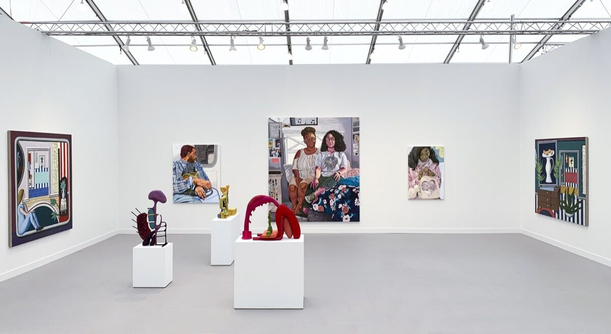 Installation view of Casey Kaplan's booth at Frieze Los Angeles, 2020. Courtesy of Casey Kaplan.