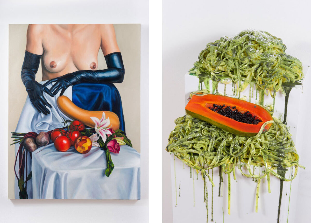 Left: Chloe Wise,LIFE'S ROUGH, BUT NOT ROUGH ENOUGH, 2016; Right: Chloe Wise, A MAGNIFICENT FORGETTING, 2016. Images courtesy of Galerie Sébastien Bertrand.