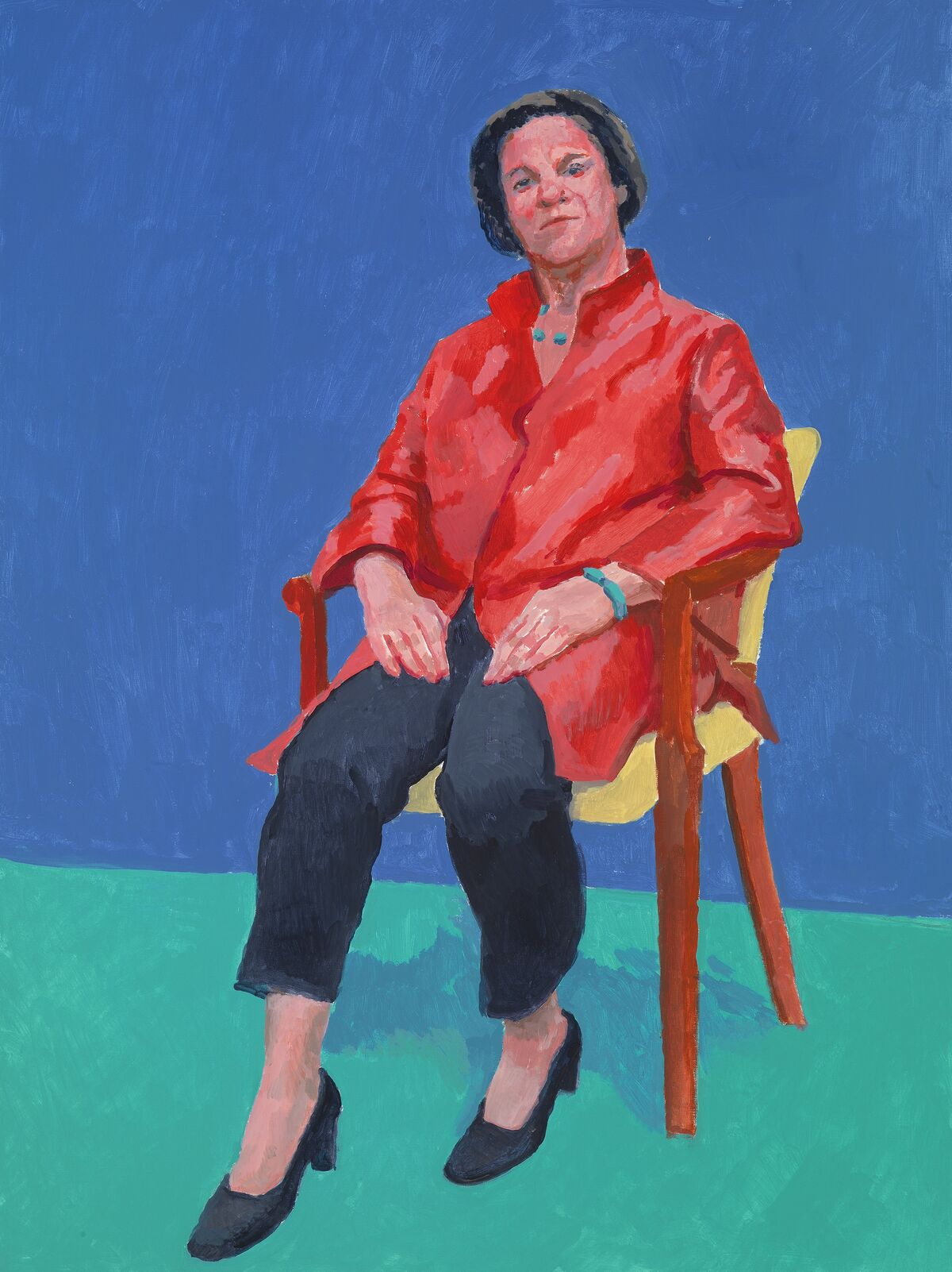 """David Hockney, Stephanie Barron, 7th, 8th, 9th January 2014, 2014, from """"82 Portraits and 1 Still-life."""" © David Hockney. Photo by Richard Schmidt. Courtesy of the Los Angeles Museum of Art."""