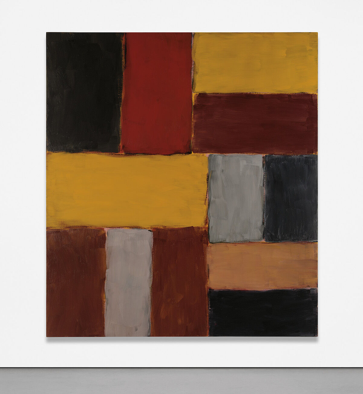 Sean Scully, Red Bar, 2003–04. Sold for $1.7 million. Courtesy Phillips.