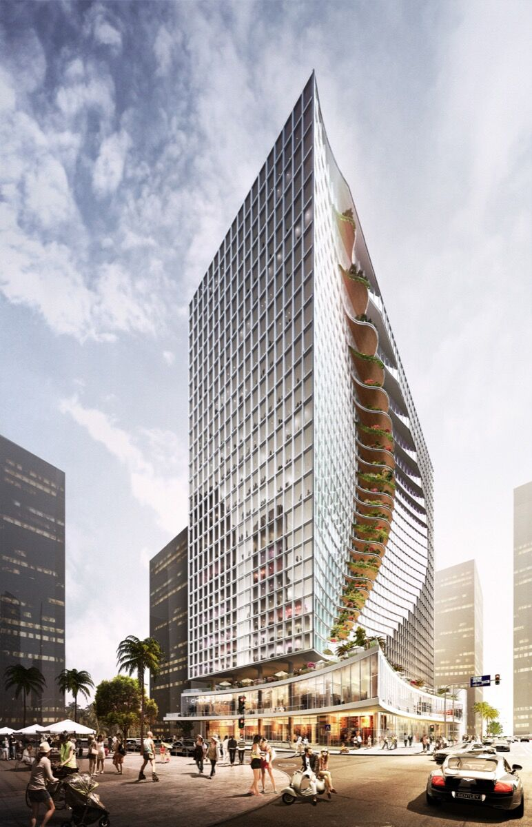Rendering of City Center Tower courtesy of CAZA.