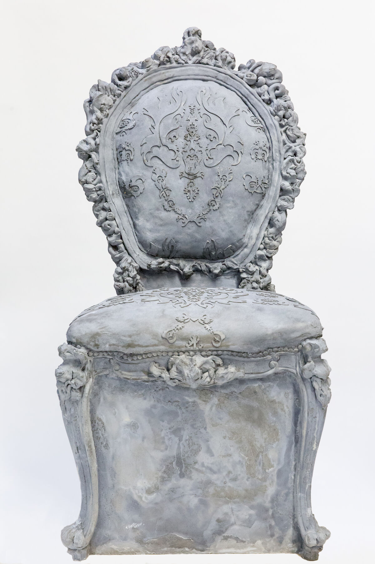 Liz Glynn, chair from Open House, 2017. Cast concrete. Courtesy of the artist and Paula Cooper Gallery. Photo: Liz Ligon, Courtesy of Public Art Fund.