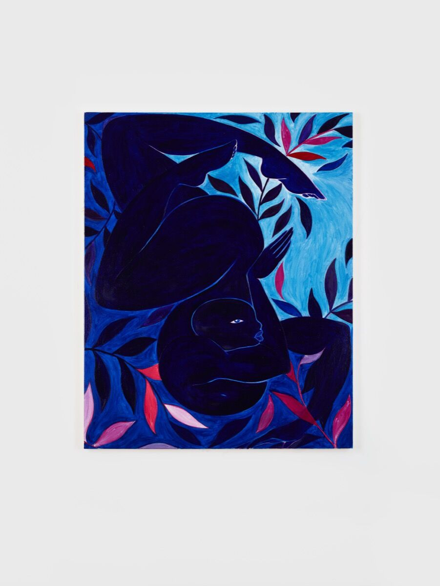 Tunji Adeniyi-Jones, Blue Dancer, 2017. © Tunji Adeniyi-Jones. Courtesy of Bernard Lumpkins.