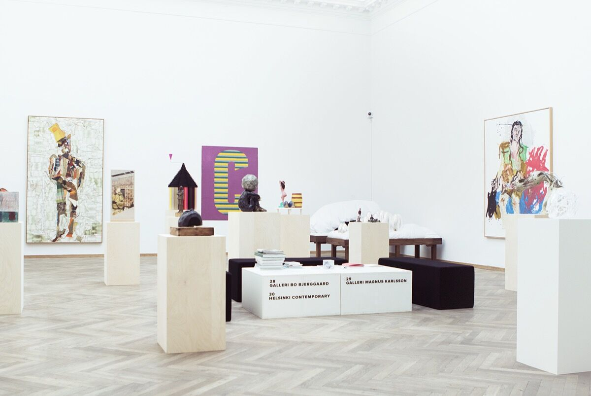 Installation view of Galleri Bo Bjerggaard's booth at CHART, 2016. Photo courtesy ofI DO ART Agency for CHART.