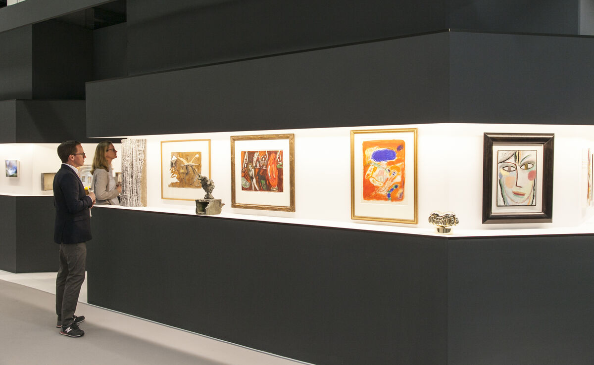Installation view of Galerie Thomas's booth at Art Cologne, 2016. Photo courtesy of Art Cologne.