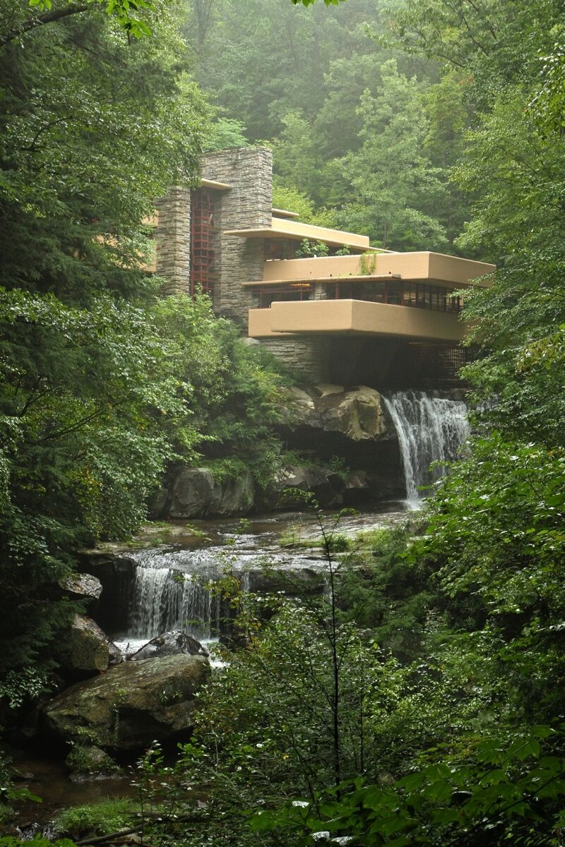 Fallingwater. Photo by Duane Wessels, via Flickr.