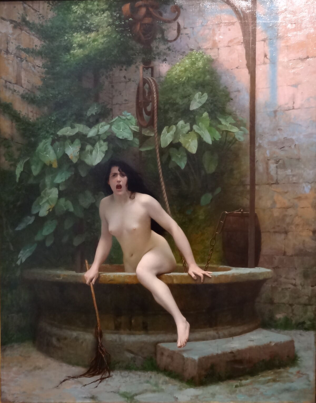 Jean Léon Gérôme, Truth Coming Out of Her Well to Shame Mankind, 1896. Via Wikimedia Commons.