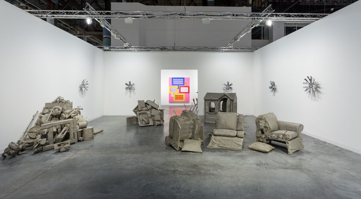 Installation view of Stuart Shave/Modern Art's booth at Art Basel in Miami Beach, 2017. Photo by Alain Almiñana for Artsy.