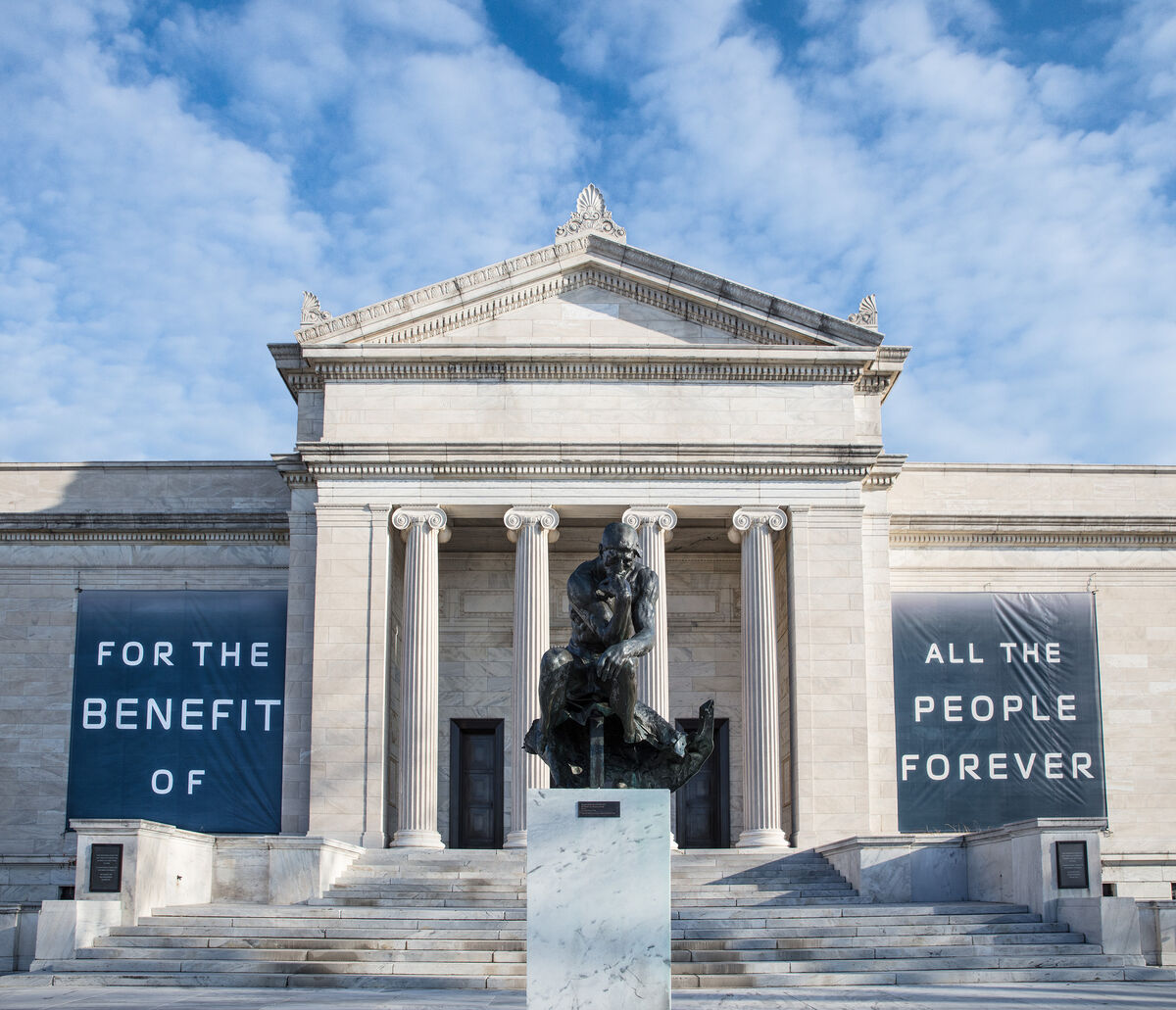 Exterior view of Cleveland Museum of Art. Photo by Howard Agriesti. Courtesy of the Cleveland Museum of Art.
